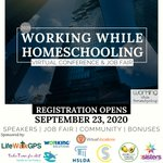 Image for the Tweet beginning: Working and #homeschooling? This event