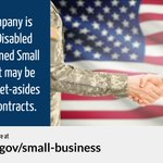 The federal government's goal is to award at least 3️⃣ % of federal contracting dollars to service-disabled veteran-owned small businesses each year.   ✅ Get resources from @GSAOSDBU at https://t.co/q0ixG4iaGU & find contracts at https://t.co/I8O0RqwxF0.   #SmallBusinessWeek