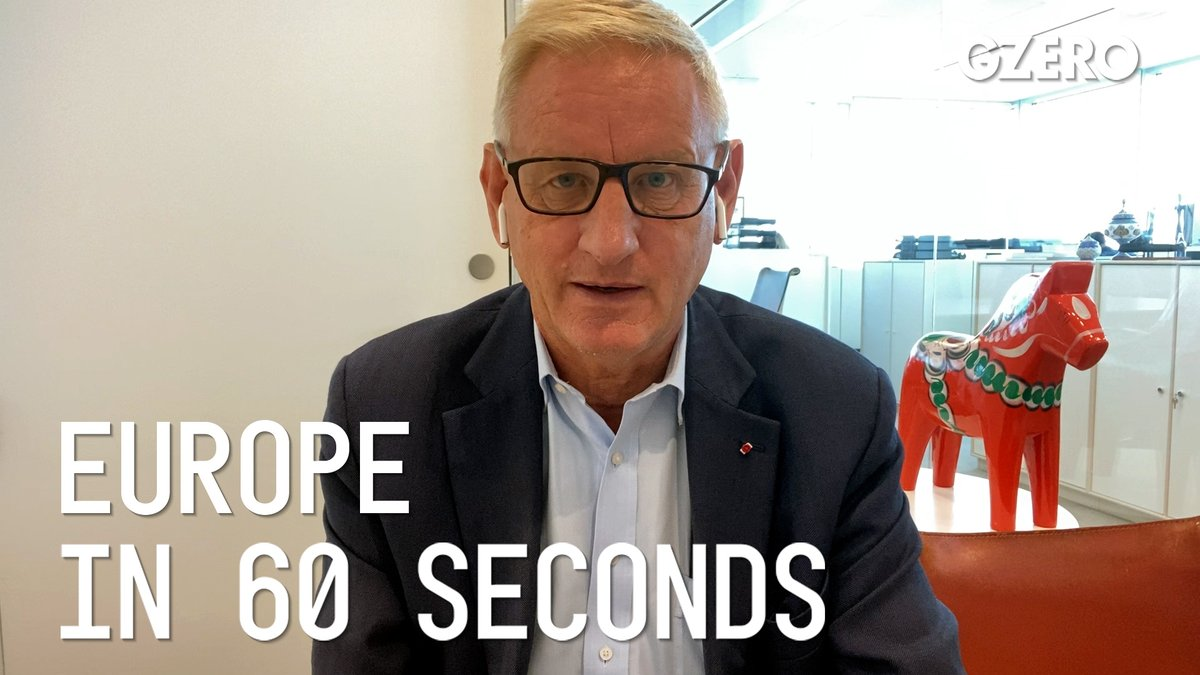 Cyprus decision to veto Belarus sanctions has sparked a constitutional crisis in the EU: @carlbildt on Europe #In60Seconds bit.ly/3kG8tWS