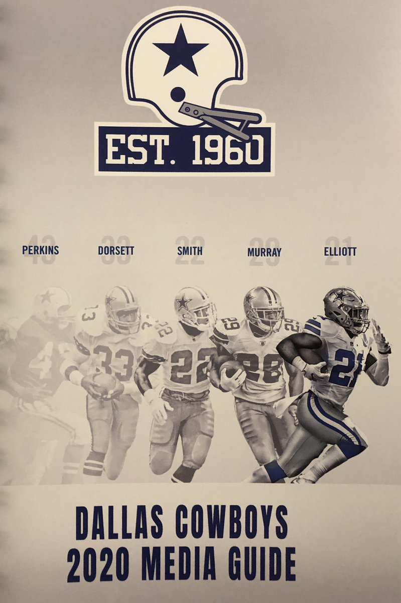 Cover of this year's Dallas Cowboys media guide