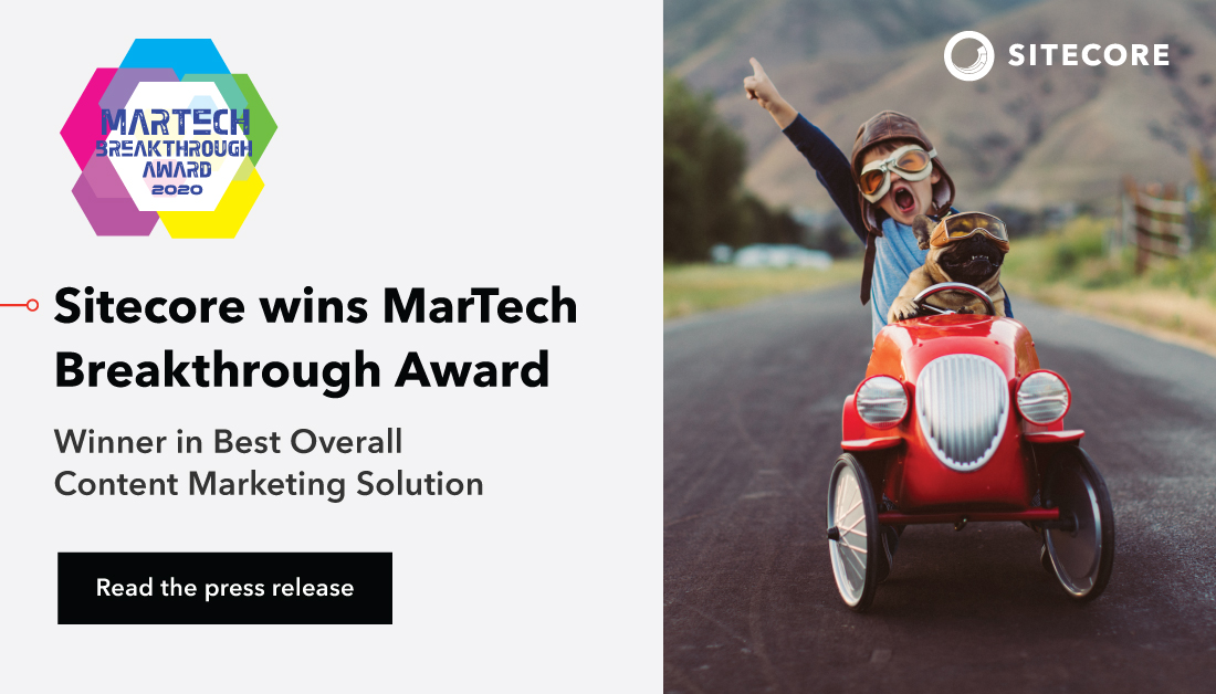 "Leading market intelligence organization @MarTech_Awards today announced that Sitecore has been selected as the winner of the ""Best Overall Content Marketing Solution"" award in the third annual MarTech Breakthrough Awards program.  Learn more: https://t.co/ywaA9wQBMx https://t.co/SBde1w9HEv"