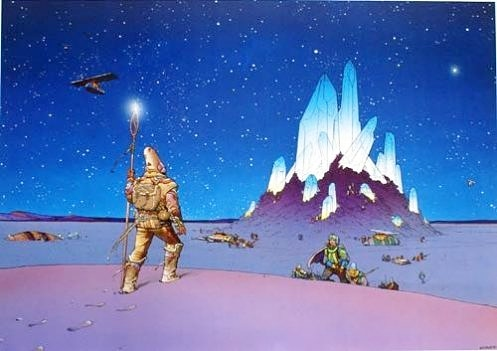 French graphic novel artist Moebius (Jean Giraud) is one of my biggest influences. #moebius #crystals #aliens #UFOs #extraterrestrials #anime #animation  #scifi #sciencefiction #comicbooks #comics #fantastic #inspiration #scifimovies #hommage #jeangiraud #crystal #starwatcher https://t.co/RhZ79BqlpZ