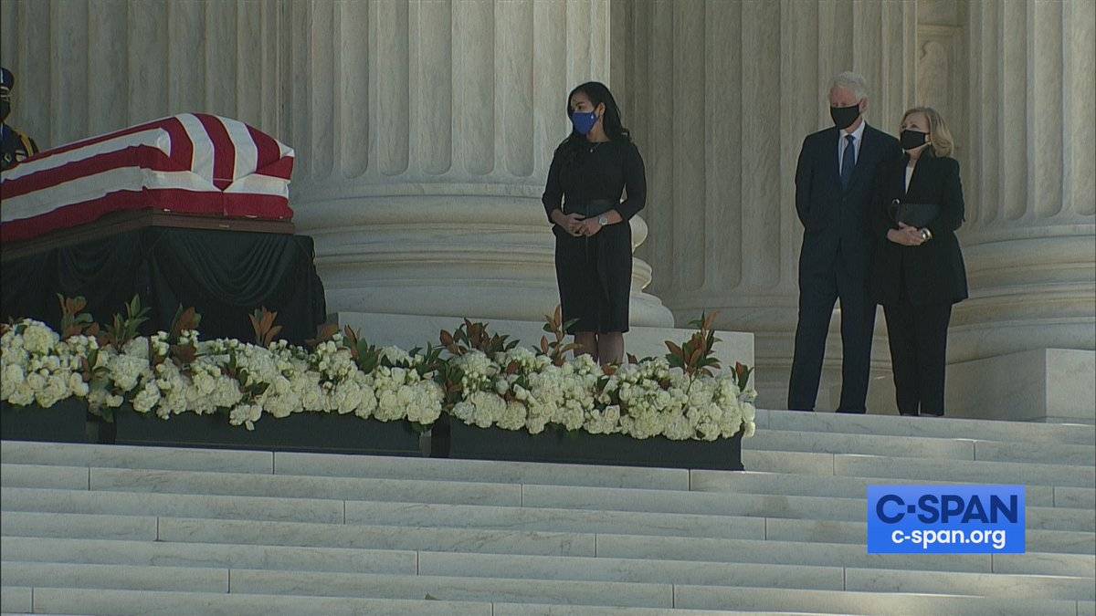 I was honored to pay my final respects today to Justice Ruth Bader Ginsburg.