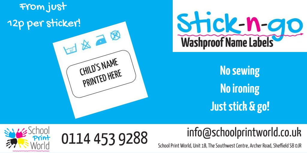 Our stick in, printed name labels  just stick straight in to school clothes, shoes, PE kits, bags, water bottles, lunch boxes, stationery and more!  Click here to find out more and order online:  https://t.co/1w1x9UOUOr  #teaching #teachers  #ukedchat #artsed https://t.co/BLHZXLRgzr