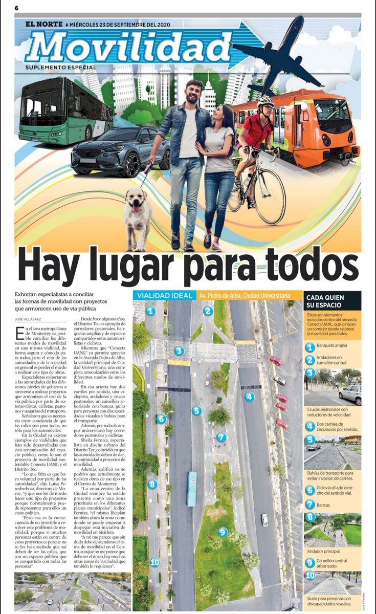 Calles para todos, no solo para los vehículos: el reto que inicia la zona metropolitana de #Monterrey entre resistencias de quienes aún exigen prioridad a la velocidad.  Busquen hoy el suplemento de #Movilidad del @elnortelocal https://t.co/yEL7aKEw6e