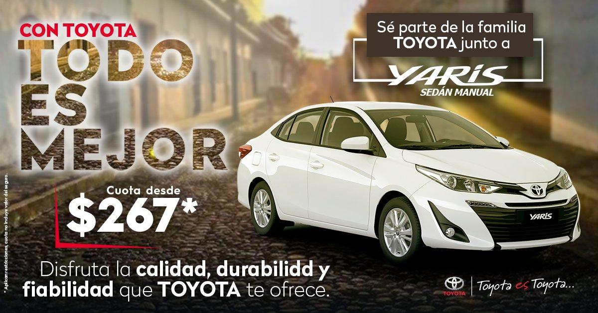 Sé parte de la familia Toyota junto a Yaris Sedán Disfruta de la calidad, durabilidad y fiabilidad que solo Toyota te ofrece.  Encuéntralo desde $19,999 o llévatelo con cuotas desde $267* Pregunta por tu Yaris aquí: https://t.co/C6Qyt2oVpR * Aplican restricciones https://t.co/2ZsQJyD50n