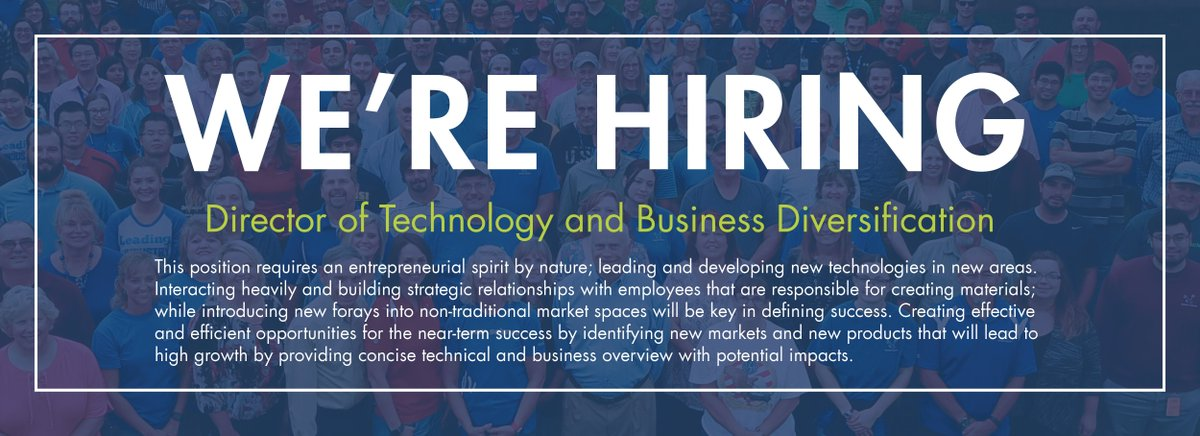test Twitter Media - Brewer Science is #hiring for the Director of Technology and Business Diversification position. We are looking for talented and dedicated individuals with the drive for creativity and innovation in technology. Please visit (https://t.co/cnfHorqLPl) to apply. https://t.co/FMo35o9C7c
