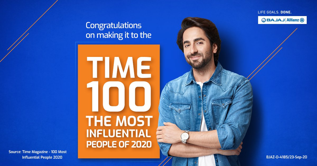 #AyushmannKhurrana is living proof that when you keep chasing your #LifeGoals, you end up changing the world for good. #Congratulations to @ayushmannk for making it to the prestigious #TIME magazine's list of 100 Most Influential People for 2020.  #TIME100 #LifeGoalsDone https://t.co/Oy49t3UtBL