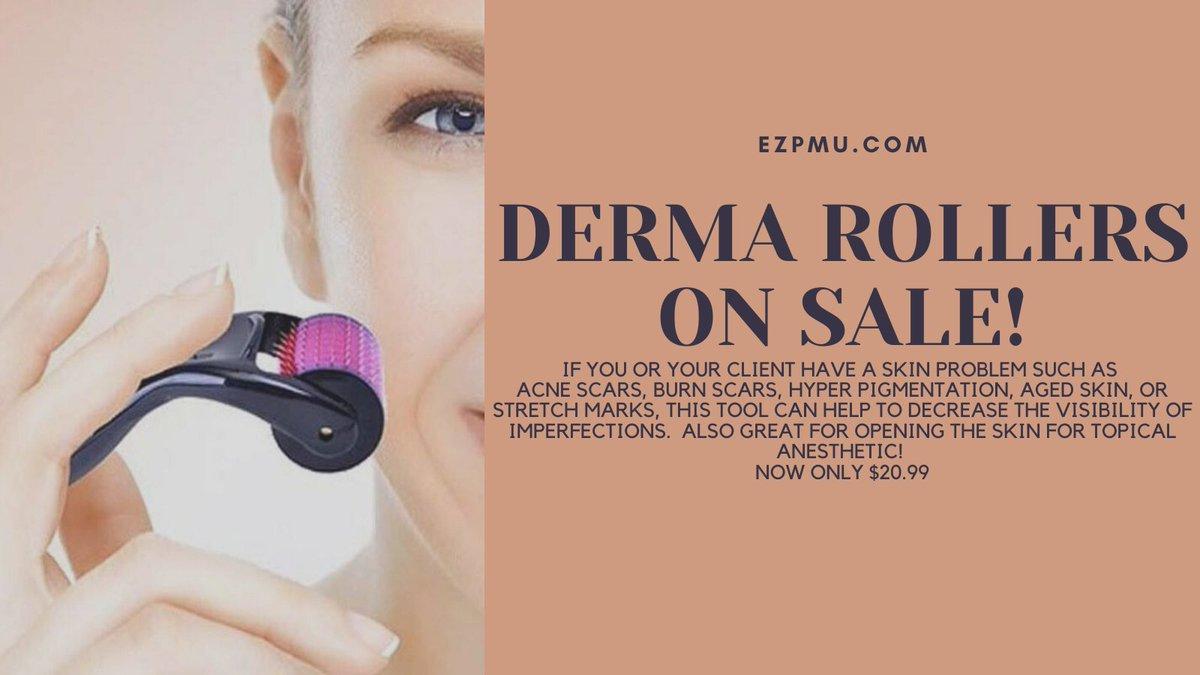 https://t.co/VD12Dc0zrV's Derma Roller Sale is on Now!!! Follow this link directly to them! https://t.co/hrRiEqrrYT #microblading #permanentmakeup #tattoo #lashextensions #browlamination #lashlift #eyelashperm #browtint #lashtint #beauty #makeup #nomakeup #love #ezpmu https://t.co/YO4xseN9mE
