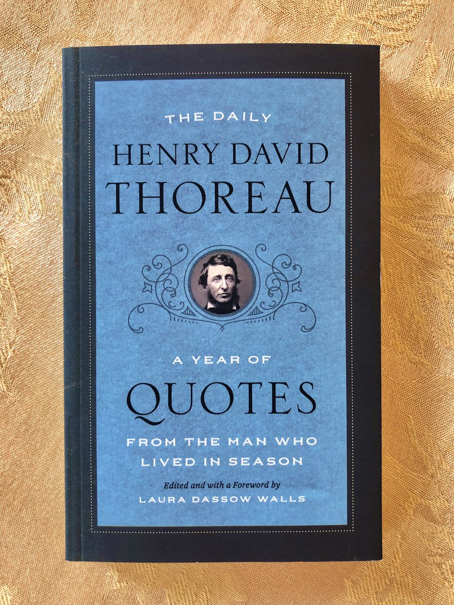 "New collection of daily quotes from Henry David Thoreau , compiled by his recent biographer Laura Dassow Walls.  September 23rd— May we, too, be about the cultivation of ""sincerity, truth, simplicity, faith, innocence, and the like"". #wednesdaywisdom #thoreau https://t.co/8wHtNJlH3T"