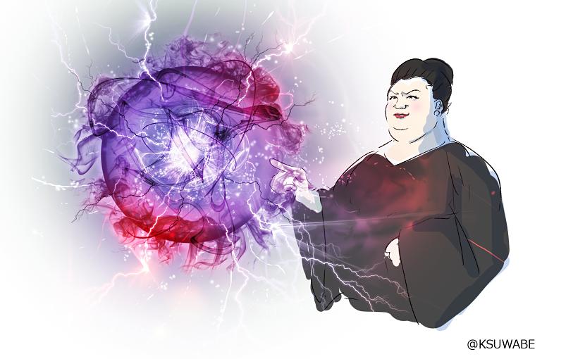 #なぜ描いたかわからないイラスト晒せ 重力系の能力を操るマツコ・デラックス