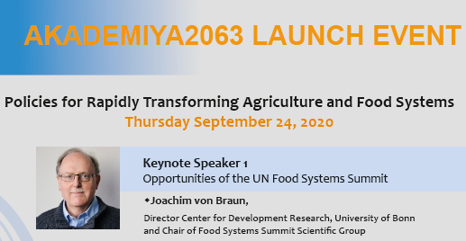 test Twitter Media - #InTheNews  .@MamoPanel's new home will be officially launched tomorrow at a session featuring Prof. @joachimvonbraun, Director at @ZEFbonn, and Chair of the #UN @FoodSystems Scientific Group.  For more details about the event, please📩communications@akademiya2063.org. https://t.co/6quoD83y65