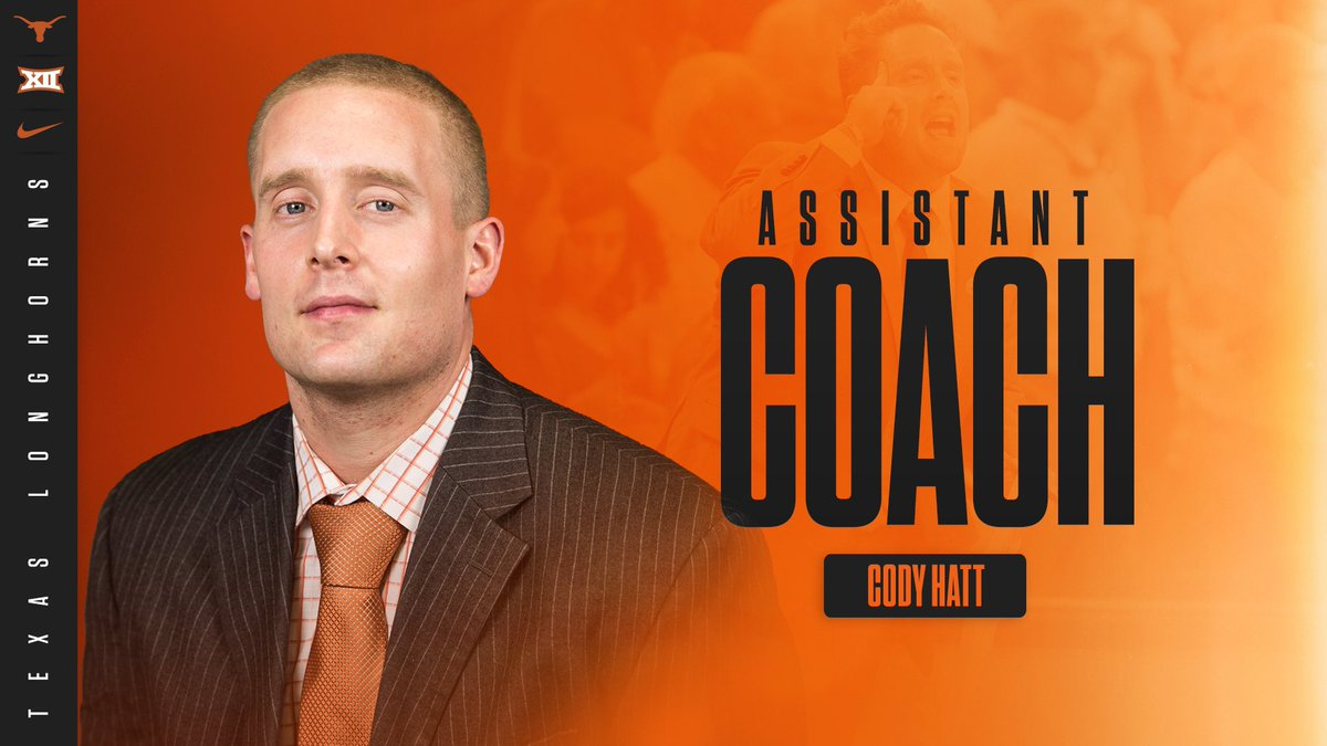 Excited to announce our newest Assistant Coach, @CoachCodyHatt! 🤘 🏀 hookem.at/HattPromo #HookEm