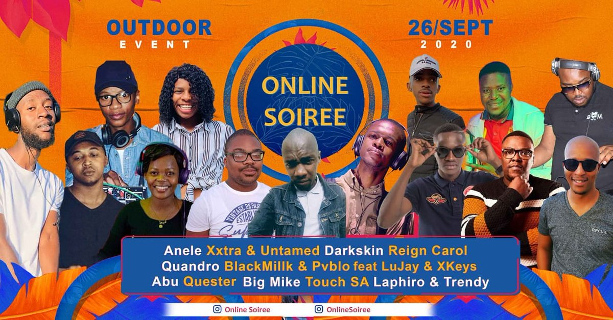 Saturday we're back on your screens w/ @onlinesoiree at a private location. Livestream on Facebook on their page from 13:00 CAT . .  #albumartwork #housemusiclovers #podcast #mixes #lockdown #2020 #dance #love #instagood #beautiful #happy #art #mzansi #afrohouse #deeptech https://t.co/wxlEHX8A2M
