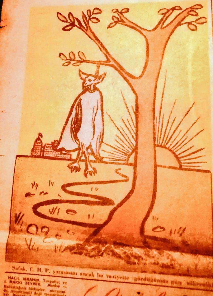 """""""Şafak, CHP yarasasını ancak bu vaziyette gördüğümüz zaman sökecek.. """" (Büyük Doğu, 1951). #NecipFazılKısakürek https://t.co/kb2jWLqFvO"""
