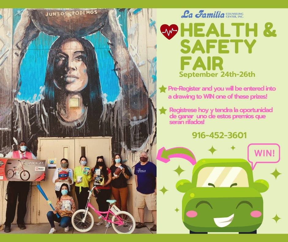 Join us for our Health & Safety Fair! We will be social distancing with Drive Up Dental Exams, Flu Shots, A1 Checks, Pre-Diabetes Screening, Giveaways, & Raffles. Everyone that Pre-Registers will be entered into a drawing to WIN one of these prizes. Call us today @ 916-452-3601. https://t.co/Zbx2oMnfRM