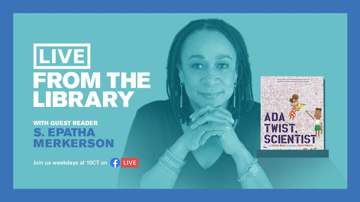Actress @s_epatha has been a constant, talented presence on TV since she began her @lawandordertv run in 1991. Now, she shines on @NBCChicagoMed and #LiveFromTheLibrary! Tune in at 10 AM at https://t.co/l9w9rofEsP to see her read Ada Twist, Scientist by past reader Andrea Beaty! https://t.co/22YPnP0I3N