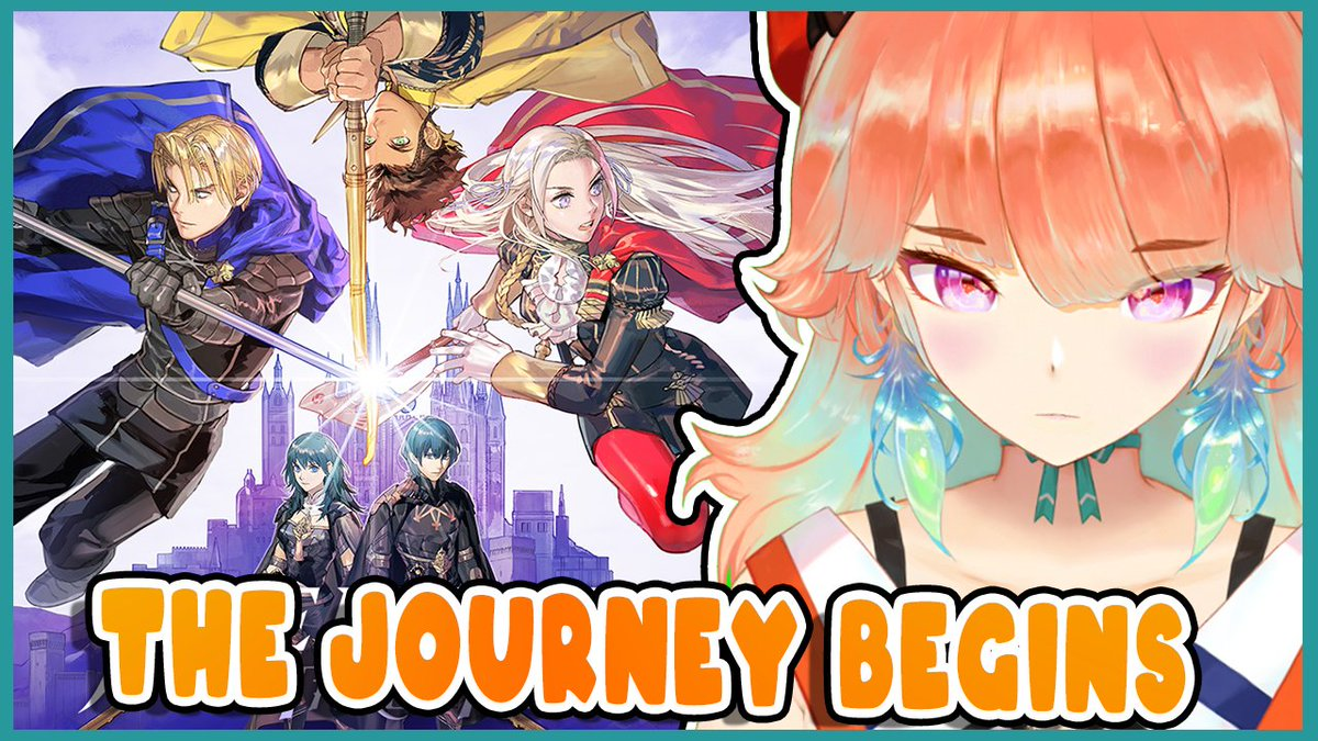 tomorrow's stream will be...this!!!!! 明日の配信は・・・これ!!【FIRE EMBLEM: THREE HOUSES】Finally, our First Adventure! #kfp #キアライブ