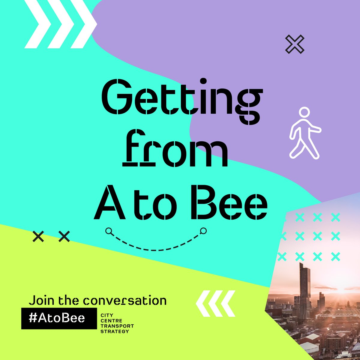 🏙️ The Manchester city centre transport strategy consultation is now open, and we want to know what your ambitions are for the future of travel around our city centre? 🧾 Read about the plans, and join the conversation at manchester.gov.uk/consultations It's as easy as #AtoBee 🐝