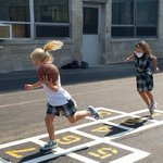 Image for the Tweet beginning: Action shots from recess!