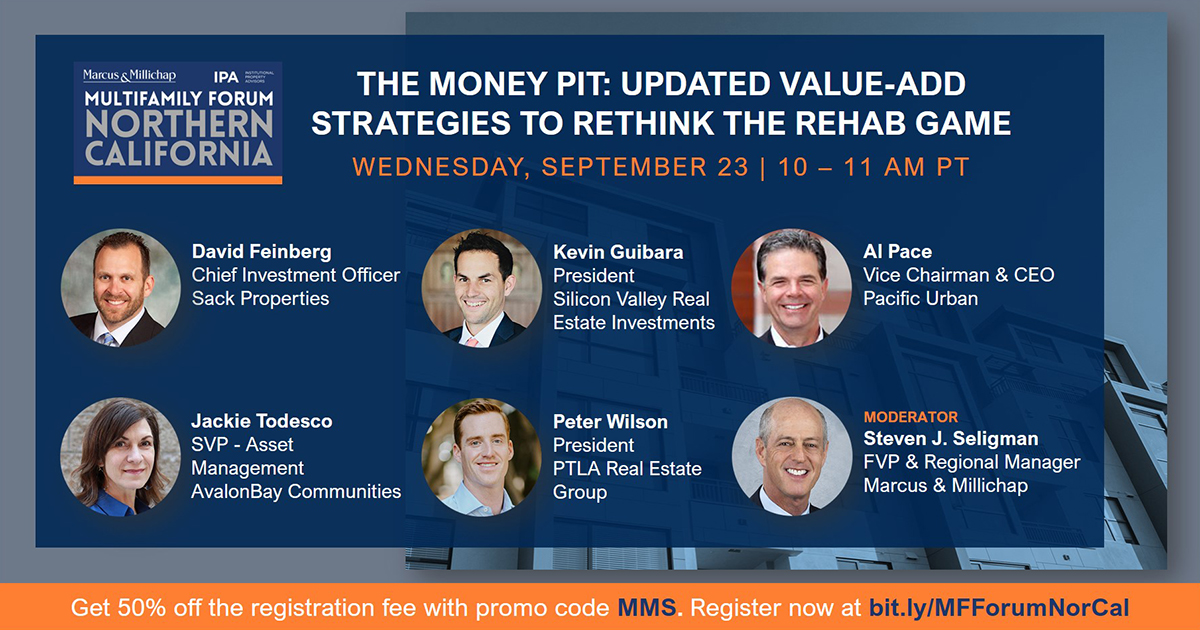 You can still register for the Northern California Multifamily Forum at https://t.co/JRoO1FZa3i . Get 50% off the registration fee with promo code MMS. Join us today to learn how the pandemic has changed the value-add rehab model.  #CRE #norcal #multifamily #realestaterehab https://t.co/UzuEITHRnU