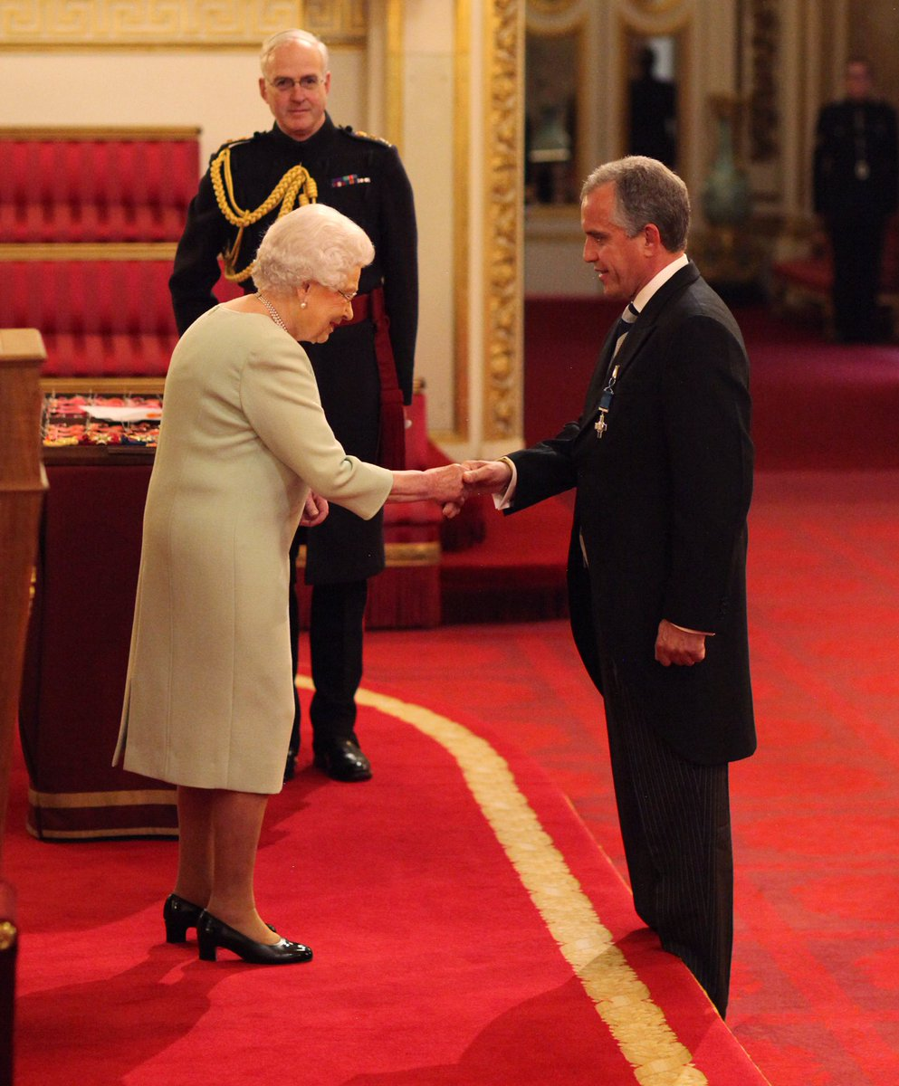 The George Cross is still awarded today 🏅 Most recently, The Queen bestowed the award on Dominic Troulan, a former Royal Marine who risked his life to save dozens of people during a terrorist attack on a shopping centre in Kenya. 📷 The Queen and Mr Troulan, 2017