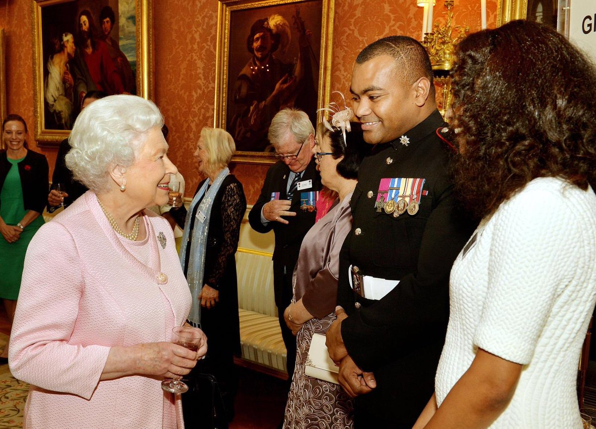 Her Majesty is Patron of The Victoria Cross and George Cross Association, whose members include living recipients of each of the awards. 📷 The Queen meets holders of the Victoria Cross and the George Cross, and their families, at a reception at Buckingham Palace in 2014