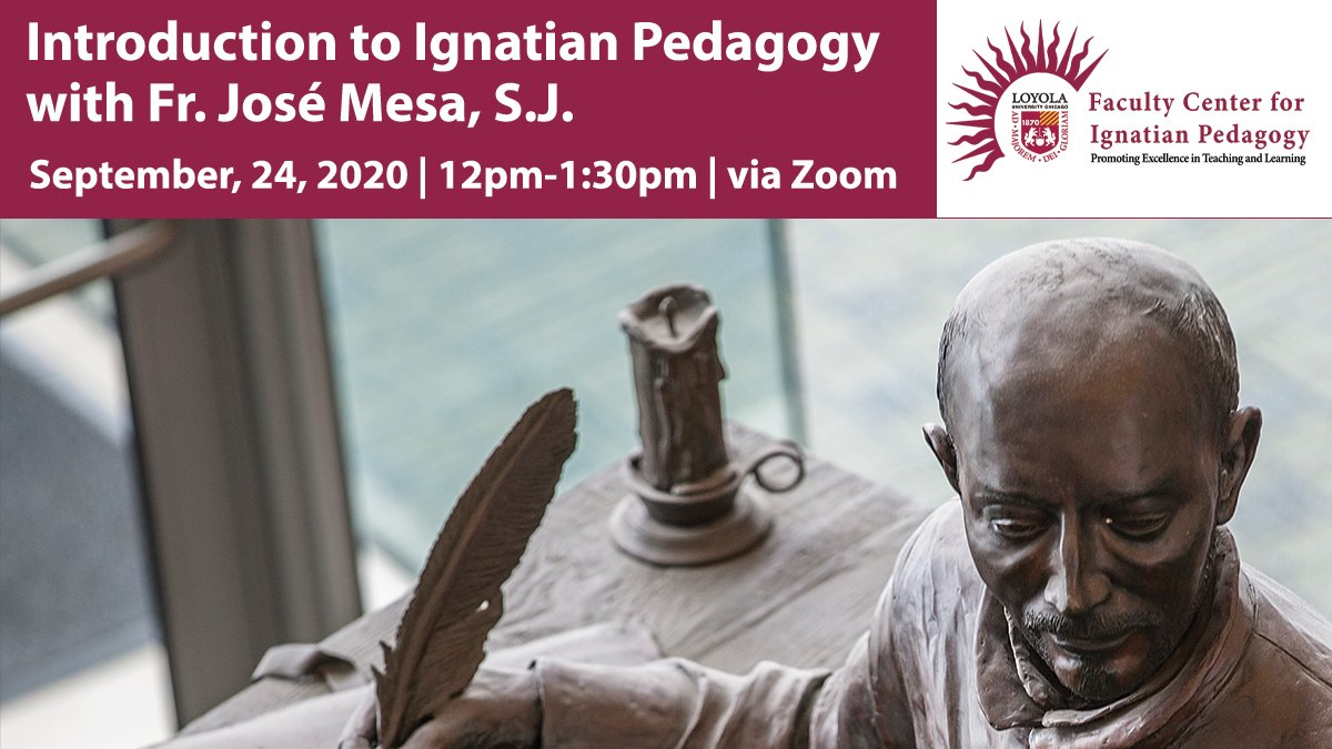 Join us tomorrow for our first #ignatian #pedagogy #seminar of the year! For more info: https://t.co/uqnnCjD0rE https://t.co/y3jM7277e9