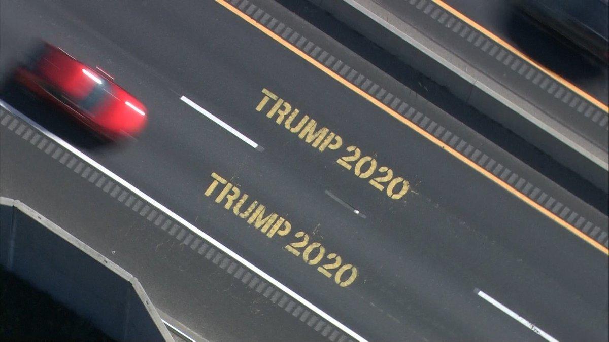 'Trump 2020' found spray painted along Route 44 in multiple Mass. towns. https://t.co/5zA61Qz8xZ https://t.co/kpcowJ6v4j