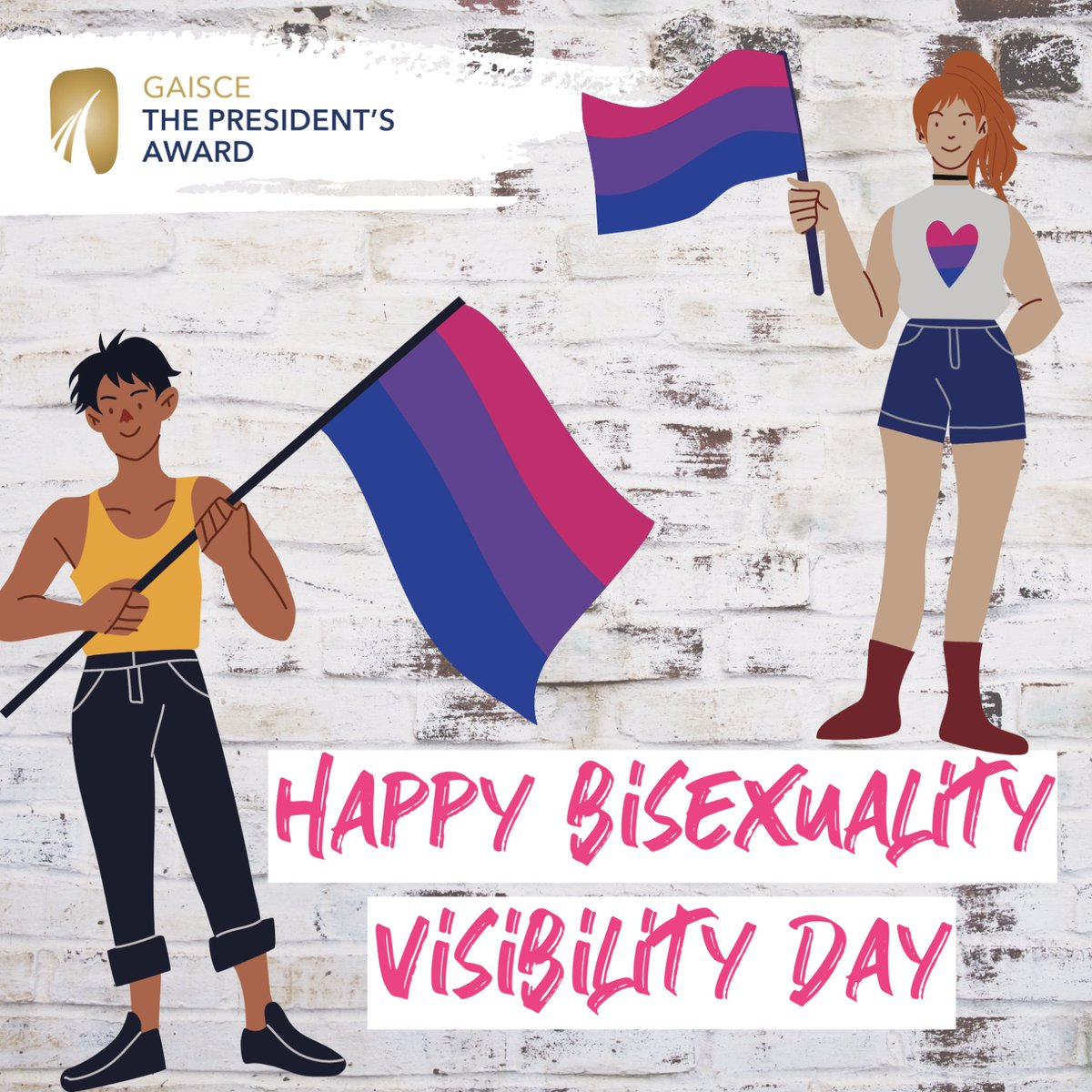 It's #BiVisibilityDay ✨  We are so, so proud of all young people who participate in our Awards, regardless of their sexuality or gender identity.  #YourWayYourAward https://t.co/ZDQdugpdPQ