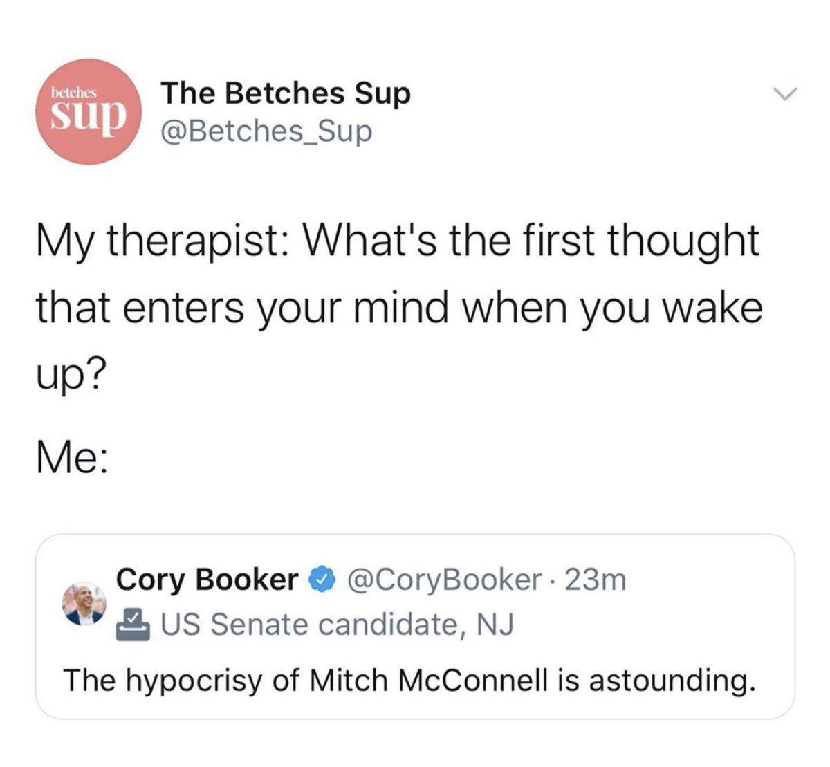 I have been thinking about it literally every day. @Betches_Sup @CoryBooker