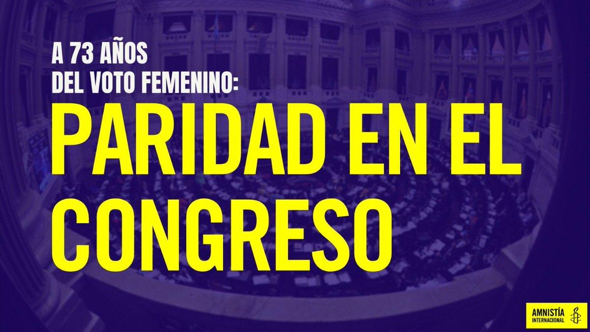 🗳️ Día Nacional de los Derechos Políticos de la Mujer  🇦🇷 A 73 años de que el #VotoFemenino es ley en Argentina y aún cuando es norma la #Paridad, seguimos sin alcanzar una representatividad igualitaria en el Congreso Nacional y en los recintos provinciales.  🧵 Hilo 👇 https://t.co/lTC4WH6d6O