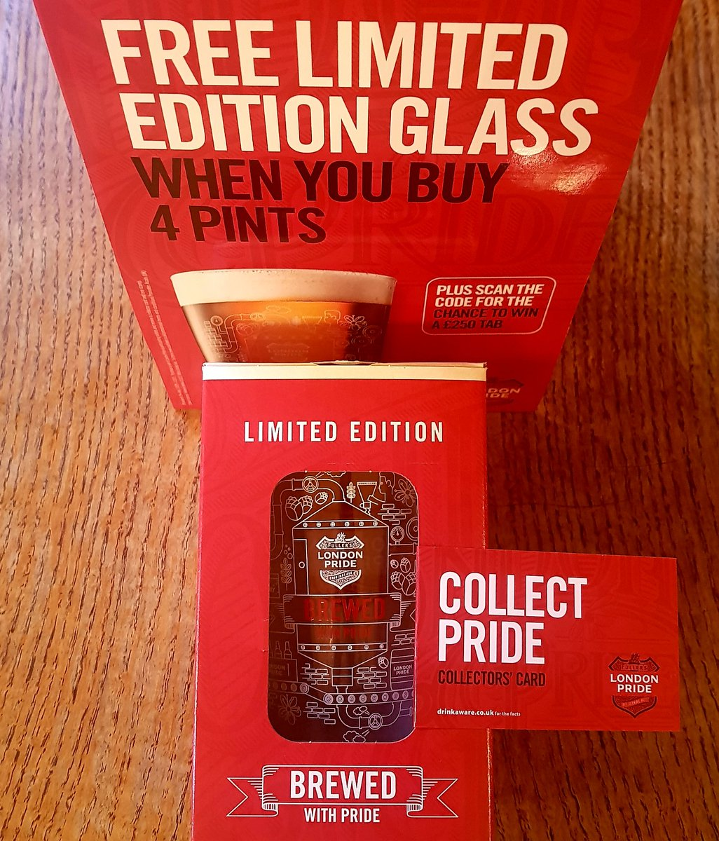 Come and Collect Pride @HDandQ from today! We're giving away amazing limited edition London Pride glassware, as well as £250 tabs!  #londonpride #collectpride #Pub #citypub #aleandpie #fullers #cityoflondon #lovelondon #LimitedEdition #beer #pint #prideoflondon https://t.co/5aWhzNnRN5