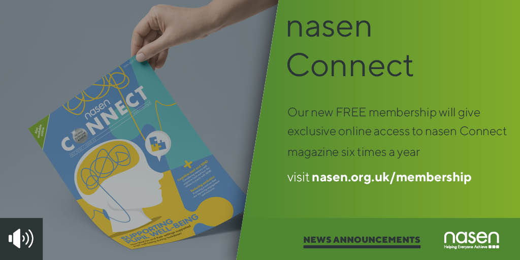 Have you read our nasen Connect mag? Packed with advice, analysis & expert opinion on all things #SEND. As of Jan 2021, you can get exclusive online access, together with a whole host of benefits with our free nasen membership. More info here: https://t.co/mbIsKt2bZq https://t.co/7m7wX5uyZu