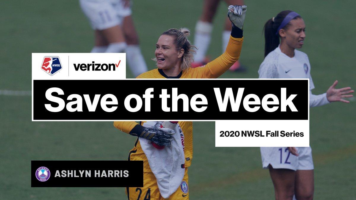Still wondering how @Ashlyn_Harris pulled this one off 🧤 The @ORLPride goalkeeper claims the @Verizon Save of the Week. #NWSLFallSeries | #VerizonCommunityShield