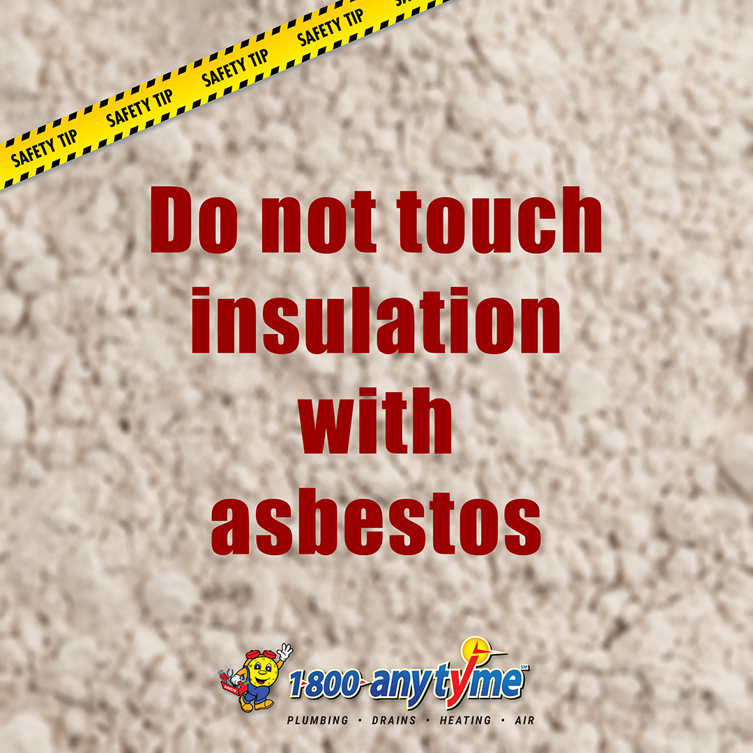 Do not touch insulation with asbestos! . . #1800anytyme #insulation #asbestos #danger #safetytip #safety #hvac #furnace #air #ac #cooling #airconditioner #airconditioning #sandiego #sandiegocounty #localbusiness https://t.co/WRB1IlMnyK