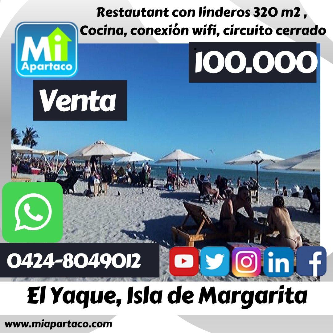 #23Sep En Venta Restaurant en El Yaque, Isla de Margarita https://t.co/0Xjl1OeKds  #inmuebles #inmueblesvenezuela #inmueblescaracas #Caracas #inmueblesporlamar #porlamar #margarita https://t.co/2e770JJQF1