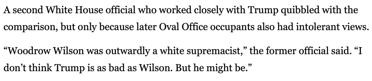 Actual defenses of the President's hateful statements  -He's not as much of a racist as Woodrow Wilson -He's not smart enough to understand white nationalism -He also says hateful things about women and is abusive toward many groups https://t.co/ZDdEJ3J4fV https://t.co/2vobbwa3mI