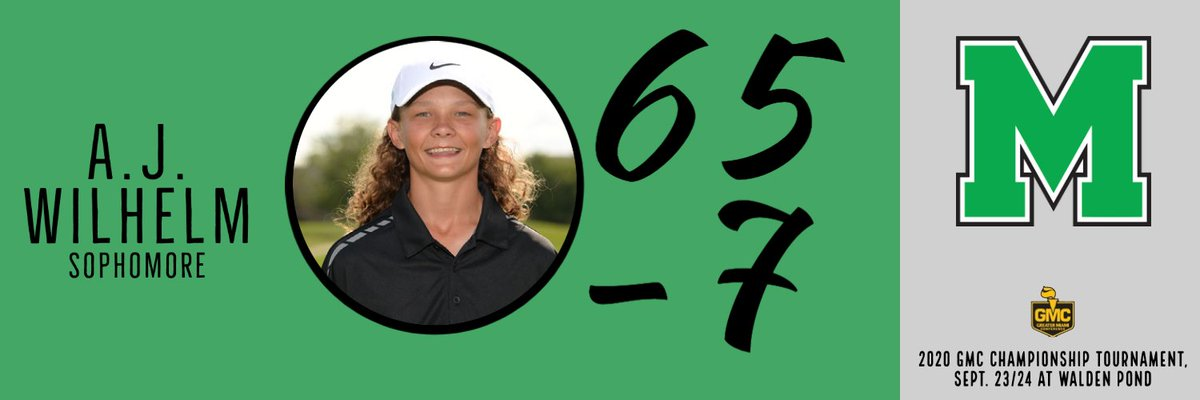.@hs_mason golf sophomore AJ Wilhelm cards a 7 under 65 in the first round of the @gmcsports boys golf championship today. Wilhelm had 7 birdies, leads all golfers after day 1. https://t.co/xFqgLd9FPI