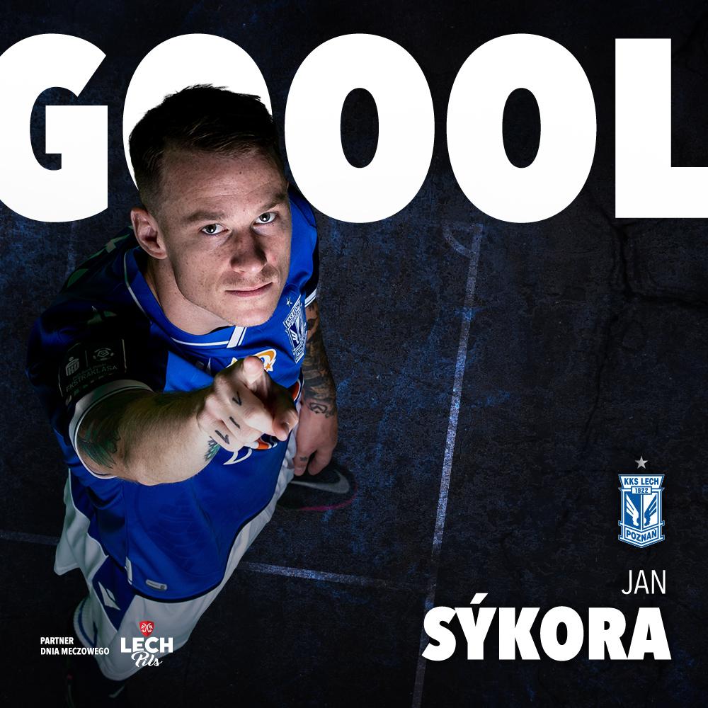 🕕 80' ⚽️ GOOOOOOL! 😍😍 Jan Sýkora zdobywa swoją pierwszą bramkę w 🔵⚪️ barwach! __ #APOLPO 0:4 https://t.co/0LB2lmM9s3