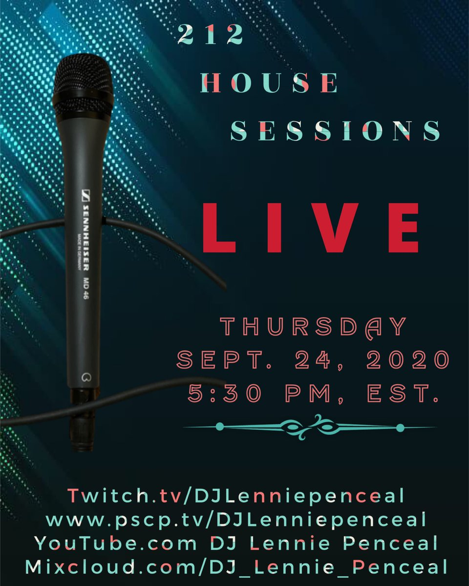 A little House Music 🎶 for ya!!!...Download the Twitch app and sign up. See u in the chat!  #DJLenniePenceal   #212Housesessions #Housemusicnyc #Housemusicatl #Clubclassics  #SoulfulHousemusic #DeepHousemusic #AfroHousemusic #FortheloveofHousemusic  #housesessions https://t.co/okPwR9OvvR