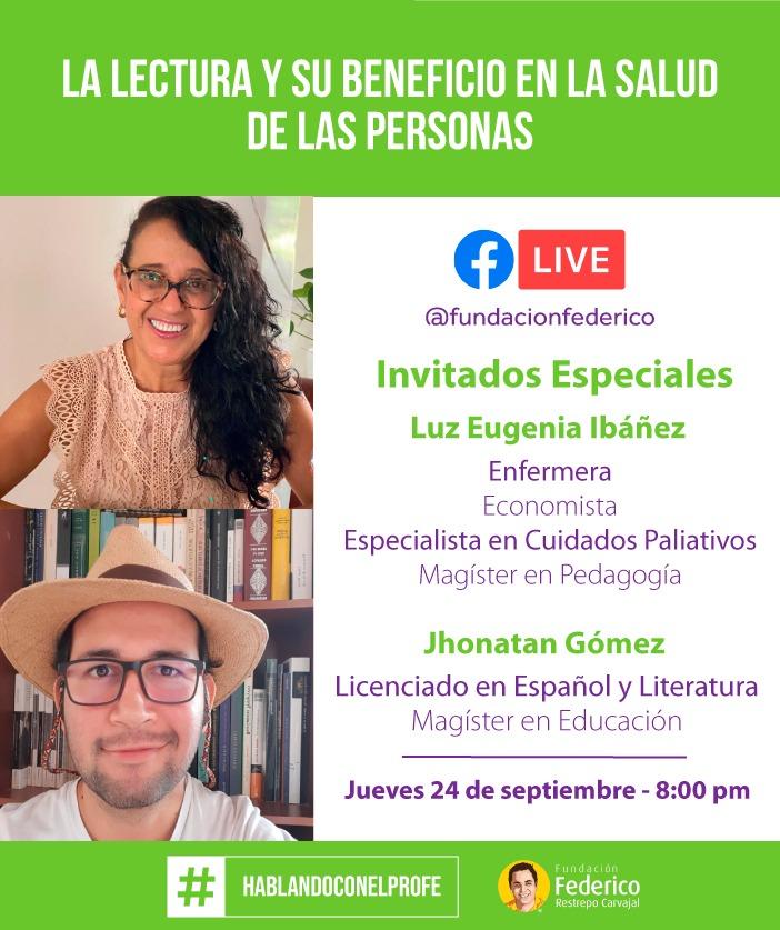 Mañana tendré una conversación con dos invitados especiales. Vamos a hablar sobre los beneficios de la lectura en la salud de las personas. #FacebookLive 8:00 pm jueves 24 de septiembre. @FundacionFRC https://t.co/sBnLb2qOCx https://t.co/cFDVZByhXO