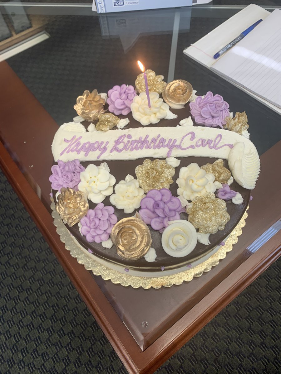 My wonderful staff in Albany gave me a 2 day early birthday cake while we socially distance worked.