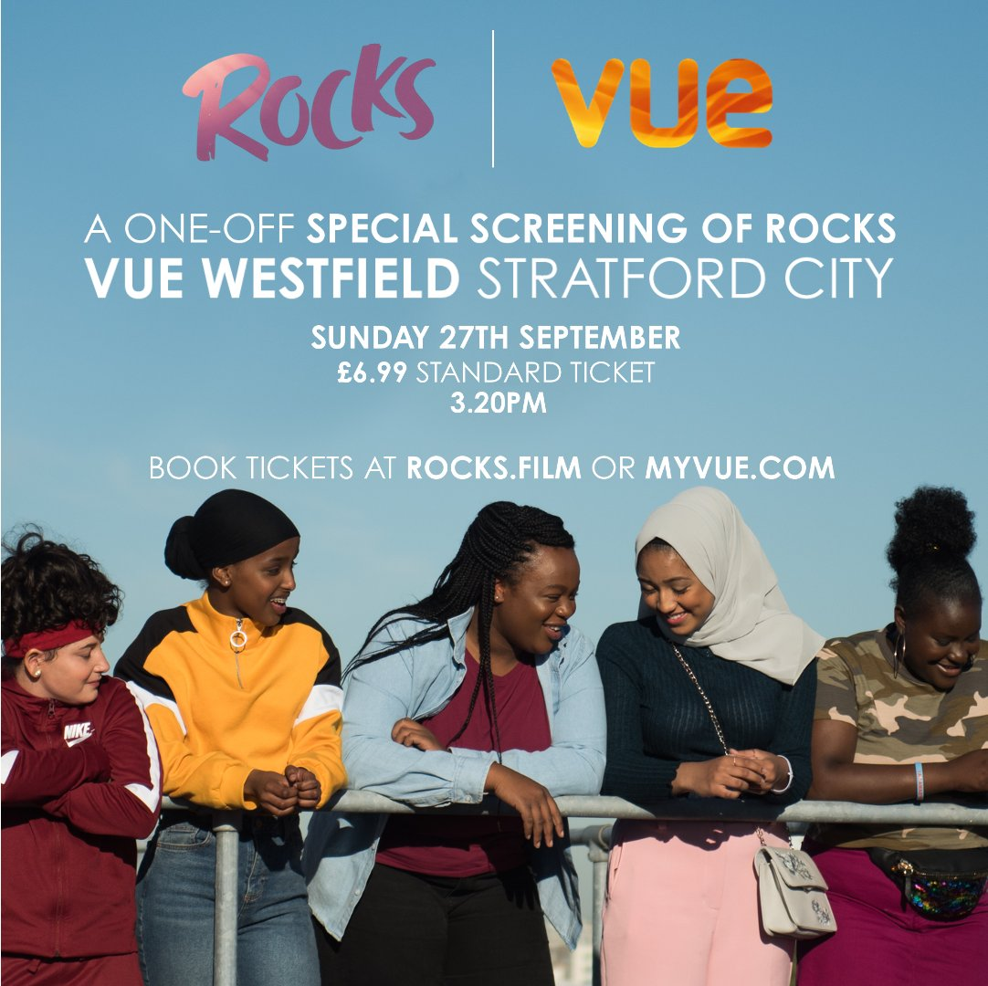 London Crew! 📣 Dont miss this SUPER SAVER screening of #RocksFilm at @vue in Westfield, Stratford this Sunday at 3.20PM ⭐️ Get tickets here 👉 bit.ly/3hTWYZZ