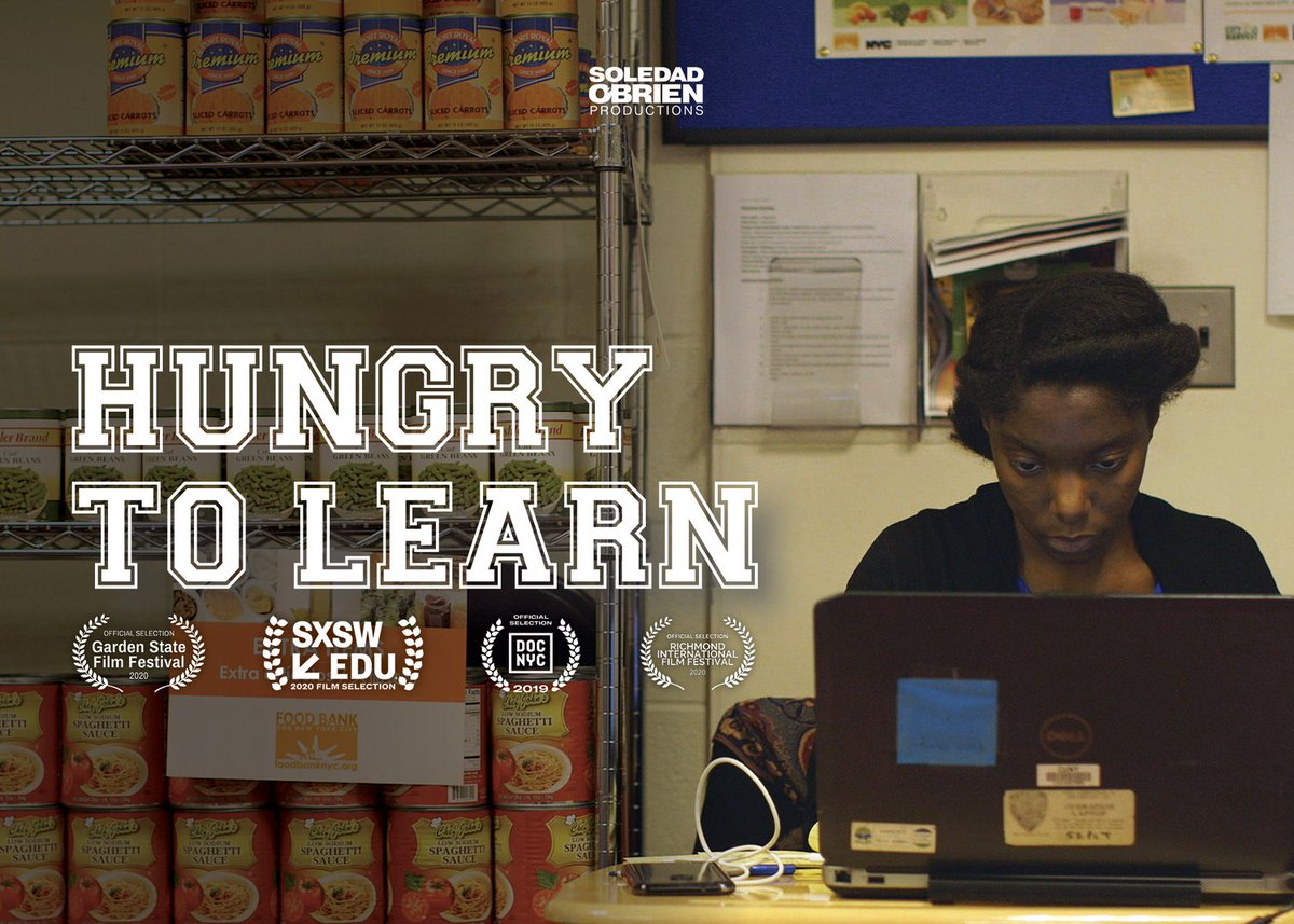 """Check out """"Hungry to Learn""""! It's now available for free! Thank you @soledadobrien for your work in uplifting the challenges that students face in meeting their basic needs. Our friends @saragoldrickrab and @hopeforcollege are featured. #RealCollege   https://t.co/vqIl0LRdYh https://t.co/m2OUNqMxTf"""