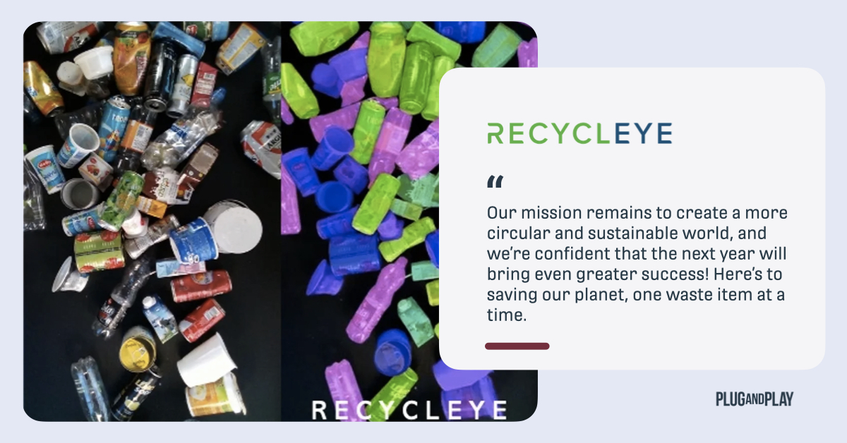One of our startups, @recycleye is celebrating their one year anniversary! Congratulations on how far you have come and how much you have grown this past year. We can't wait to see what successes this year brings!  Read more 👉 https://t.co/62mDynxT0T  @EndPlasticWaste https://t.co/fE6s8Z9M98