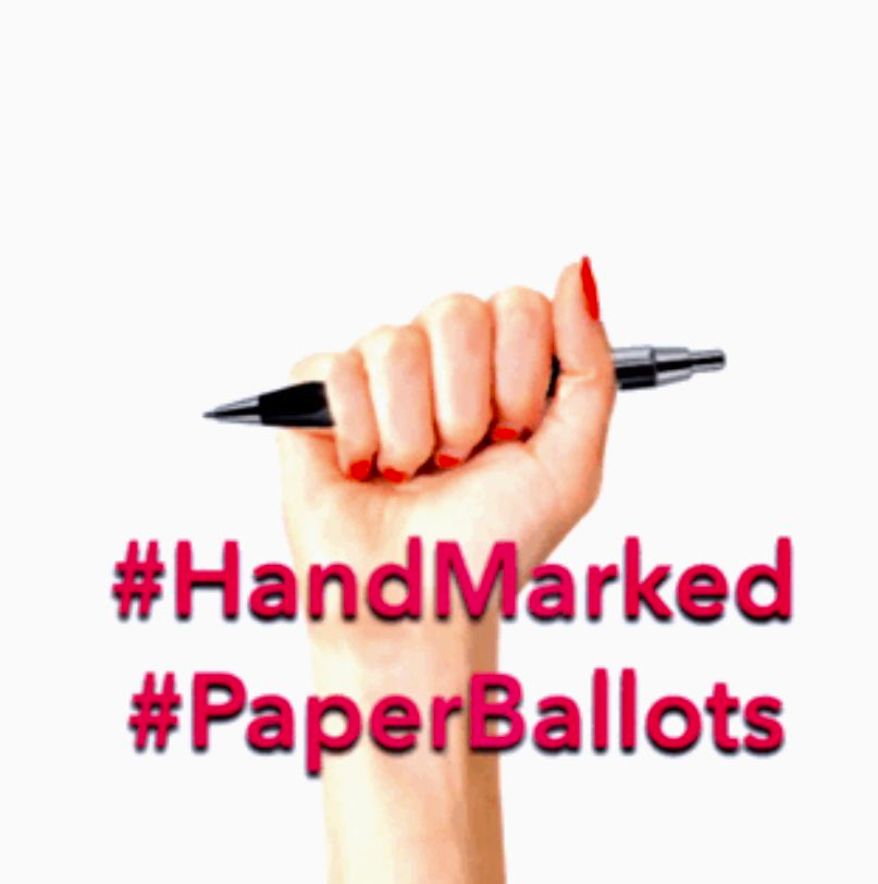 8/ Some barcode voting (touchscreen) jurisdictions allow voters to mark their ballots by hand with a pen upon request. It cannot hurt to ask and I recommend that in person voters do that. You can call your county election office in advance to find out if this will be an option. https://t.co/BxOmusFaiB