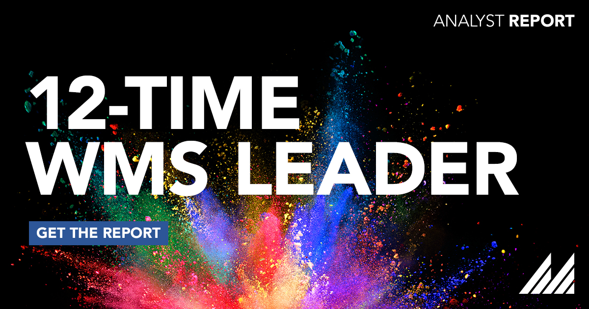 We're proud to be a Leader in both #WMS & #TMS @Gartner_inc #MagicQuadrant reports. See what earned us our #WarehouseManagement distinctions 12X by downloading the report on our website. #PushPossible    https://t.co/UHvVCCyh3h https://t.co/MlZ9GzTUG8
