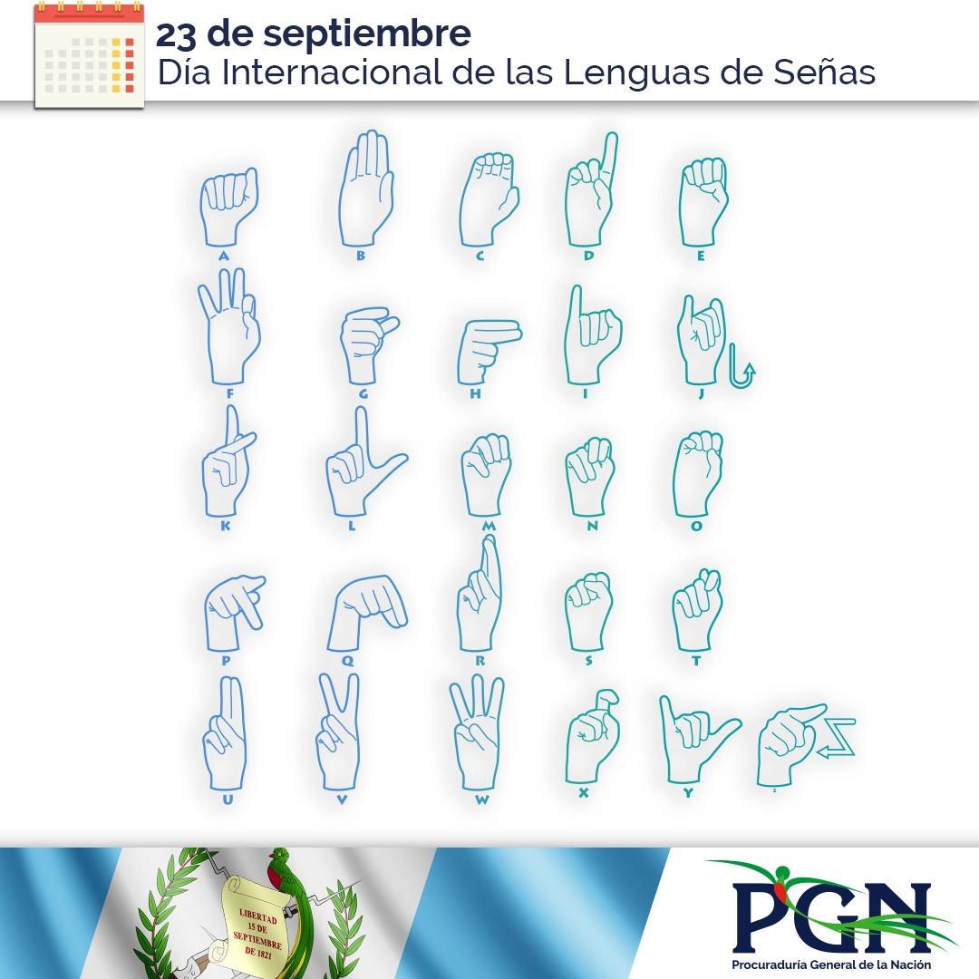 Las lenguas de señas permiten el pleno goce de los Derechos Humanos de las personas sordas. #PGN reafirma el compromiso. https://t.co/Zmk98qfEHf