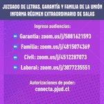 Image for the Tweet beginning: 📱📩 Juzgado de Letras, Familia